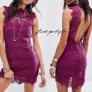 Free People Purple Lace dress xsmall